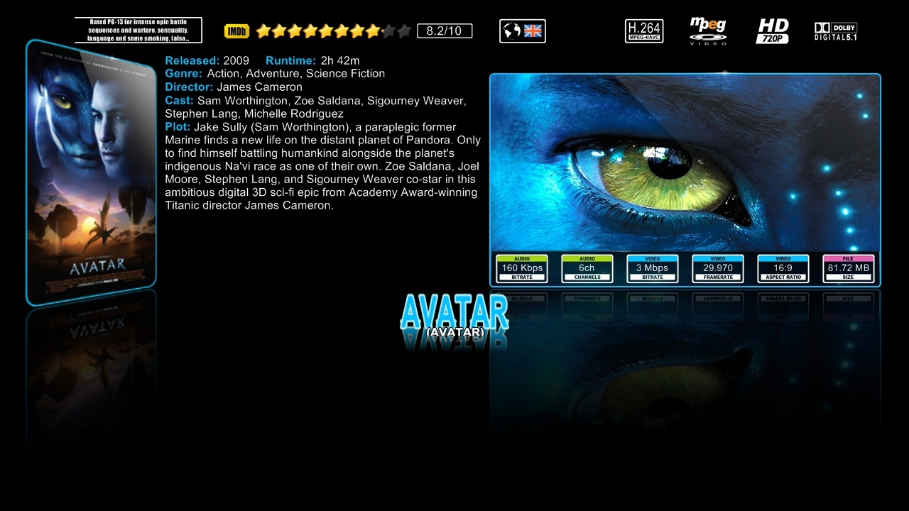 Avatar Movie Sheet